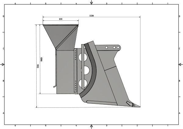 Pflugmesser Konstruktionsskizze
